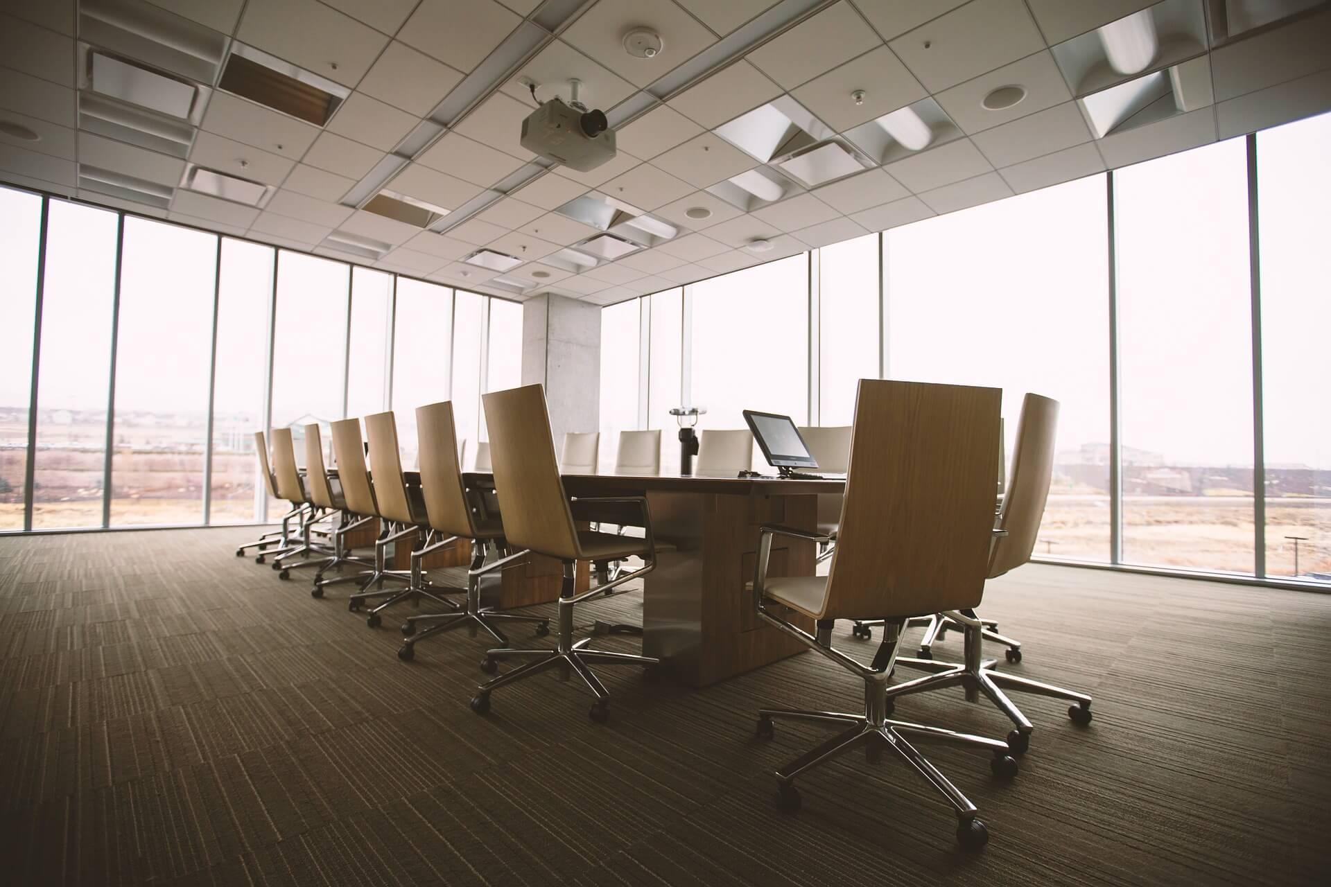 Sala de reuniones en eventos